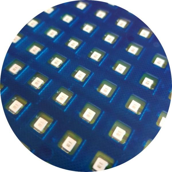 Синяя монохромная светодиодная строка