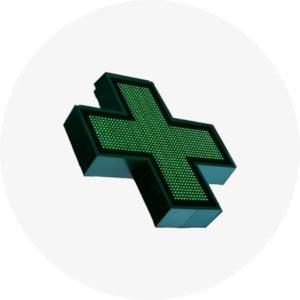 Светодиодный медицинский крест